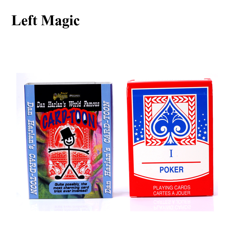 Cartoon Cardtoon Deck  Playing Card Toon Sprite Magic Trick For Professional Magician Animation Mental Prediction Illusion