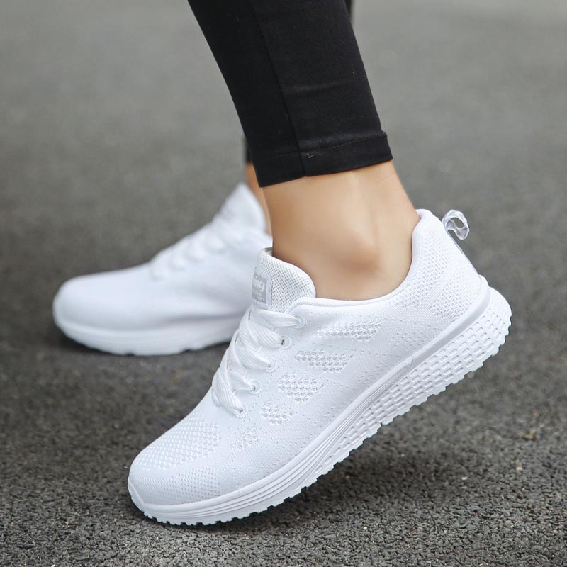 Hundunsnake Summer Mesh Sports Shoes Lady Running Shoes Women's Sneakers Women's Athletic Shoes Sport White Scarpe Donna B-198