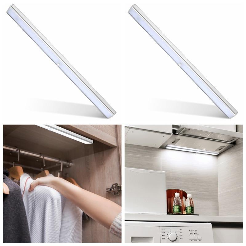 24 LED Motion Sensor Night Light Potable Closet Lights USB Rechargeable Wireless Cabinet IR Infrared Motion Detector Wall Lamp