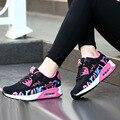 2016 nueva moda mujeres pisos transpirable zapatos casuales al aire libre gimnasio perder peso health zapatos casuales