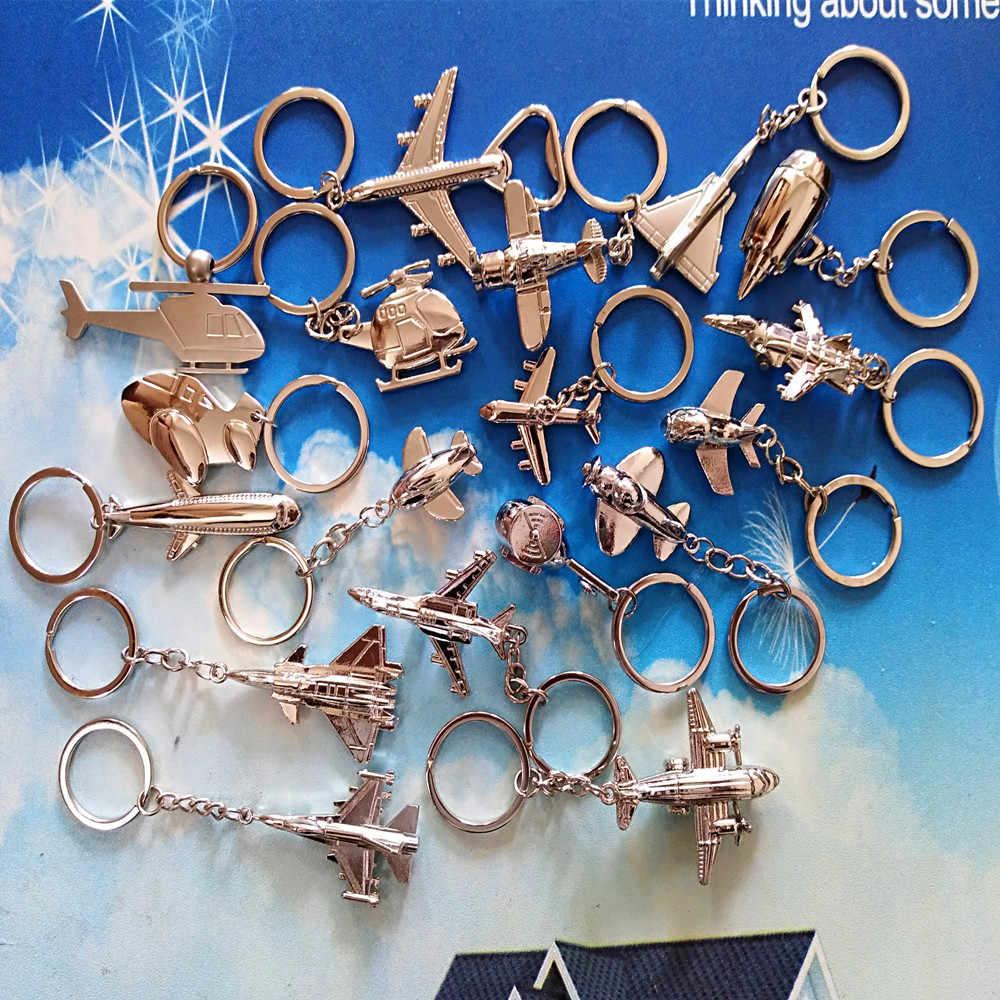 1 Pcs מיני מטוסי Keychain מטוסי דגם Keyring מטוס מסוק מטוסי קרב keychain אוויר מטוס Keychain תליון