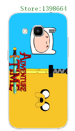 Online-custom Plastic Mobile Phone Cover for Samsung Galaxy Core 2 G355H/G3559 HOT Adventure Time White Hard Cases free shipping