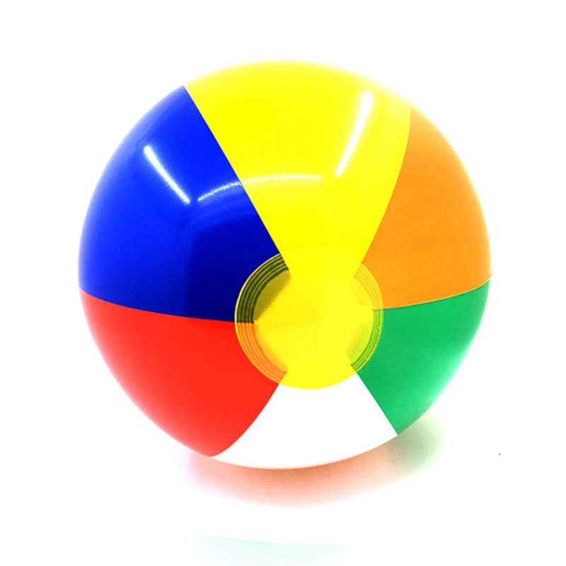 30cm Colorful Children Summer Inflatable Water Balls Outdoor Sport Swimming Playing Inflated Toy Balls