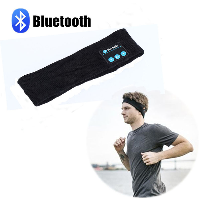 Mrs win Stricken Musik Stirnband Headset w/Mic Wireless Bluetooth Kopfhörer Kopfhörer Für Lauf Yoga Gym Schlaf Sport Ohrhörer