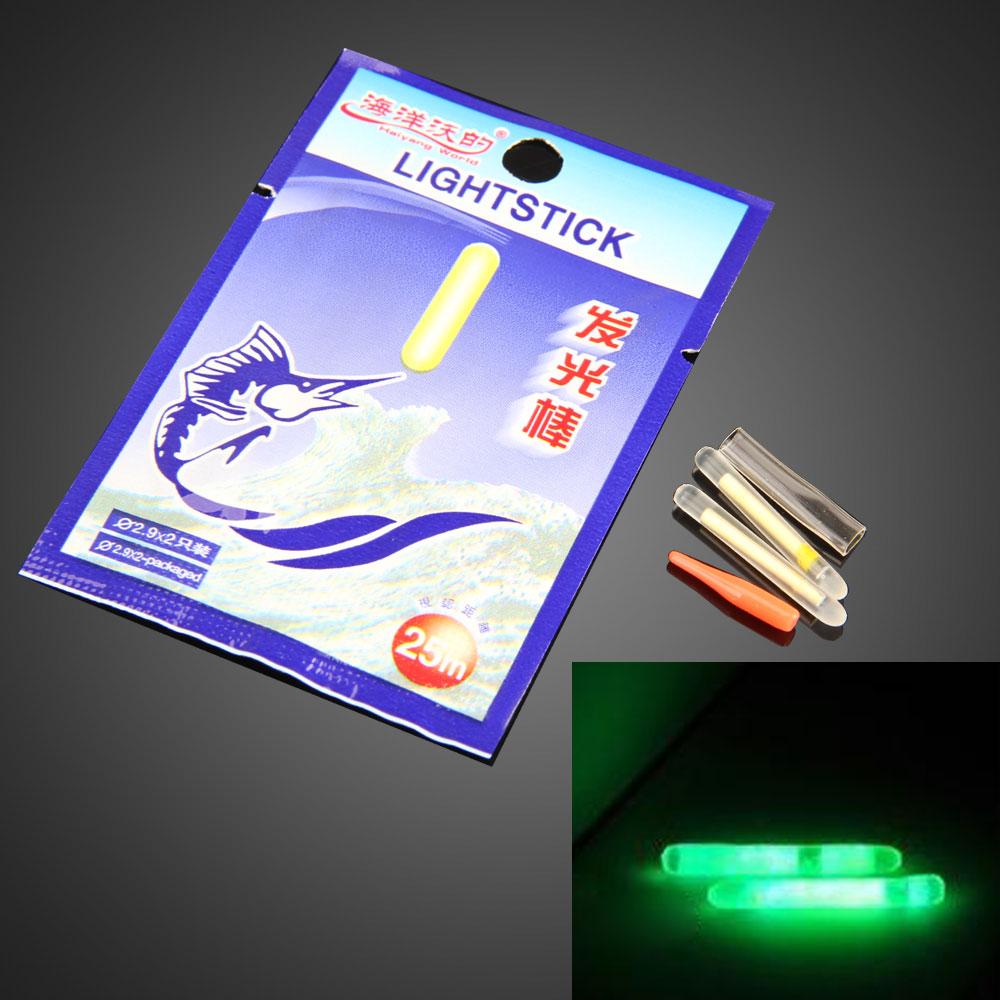 100Pcs Disposable Fishing Light Night Glow Sticks Lightstick 4.5*37mm SS