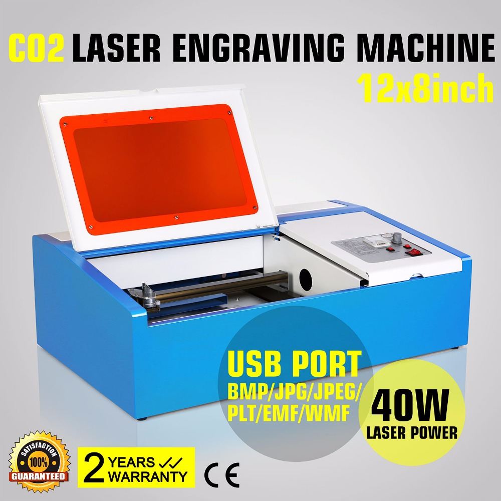 Free Shipping For Russia 40W USB CO2 LASER ENGRAVING CUTTING MACHINE ENGRAVER CUTTER W/ COOLING FAN