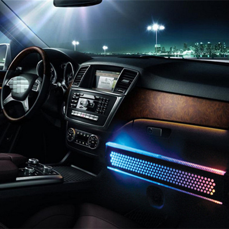 JLEC Car-Styling RGB Grid LED Atmosphere Lamp Auto Waterproof High Bright LED Car Floor Decoration Lights with Cigarette Lighter