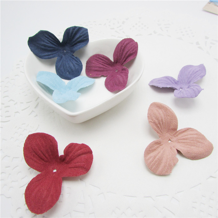 length:4.5cm Felt cloth flowers for hair phone decoration , DIY handmade materials, wedding gift wrap,10Y47995