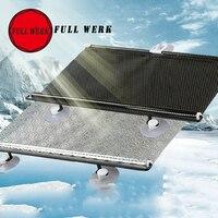 Auto Care Car Styling 1pcs 125x58cm Car Black Front Window Sun Shades Cover Mesh Visor Shield