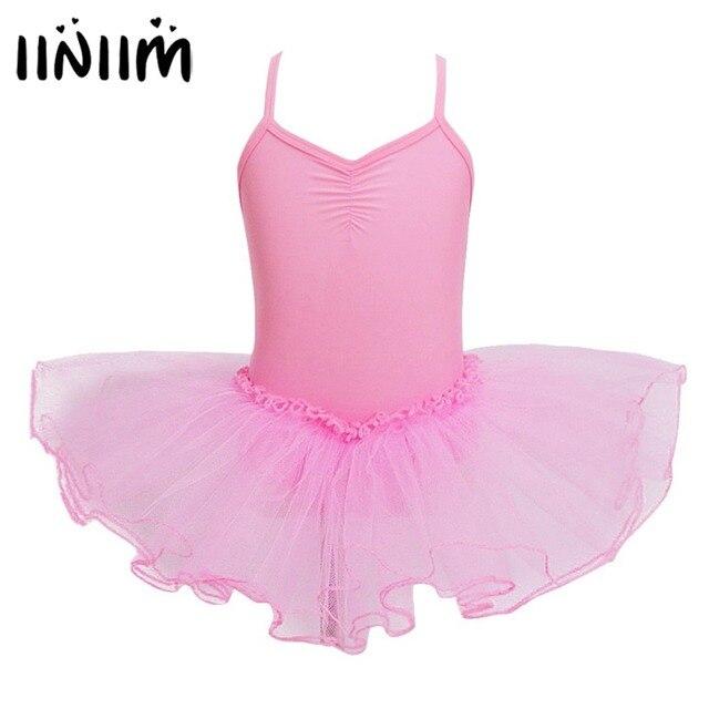 iiniim 2018 Teen Girls Costumes Fancy Tutu Ballet Dancing Dress Leotard  Dancewear Gymnastics for Performance Girls Ballet Class 4f68499e7d95
