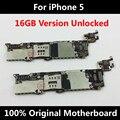 100% bom trabalho motherboard para iphone 5 5g 100% versão oficial original desbloqueado mainboard com chips 16 gb placa lógica