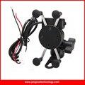 Universal de La Motocicleta Eléctrica Bicicleta Sostenedor Del Montaje Del Teléfono Celular USB Cargador para el iphone, Samsung y GPS con 3.5-6 Pulgadas de Pantalla