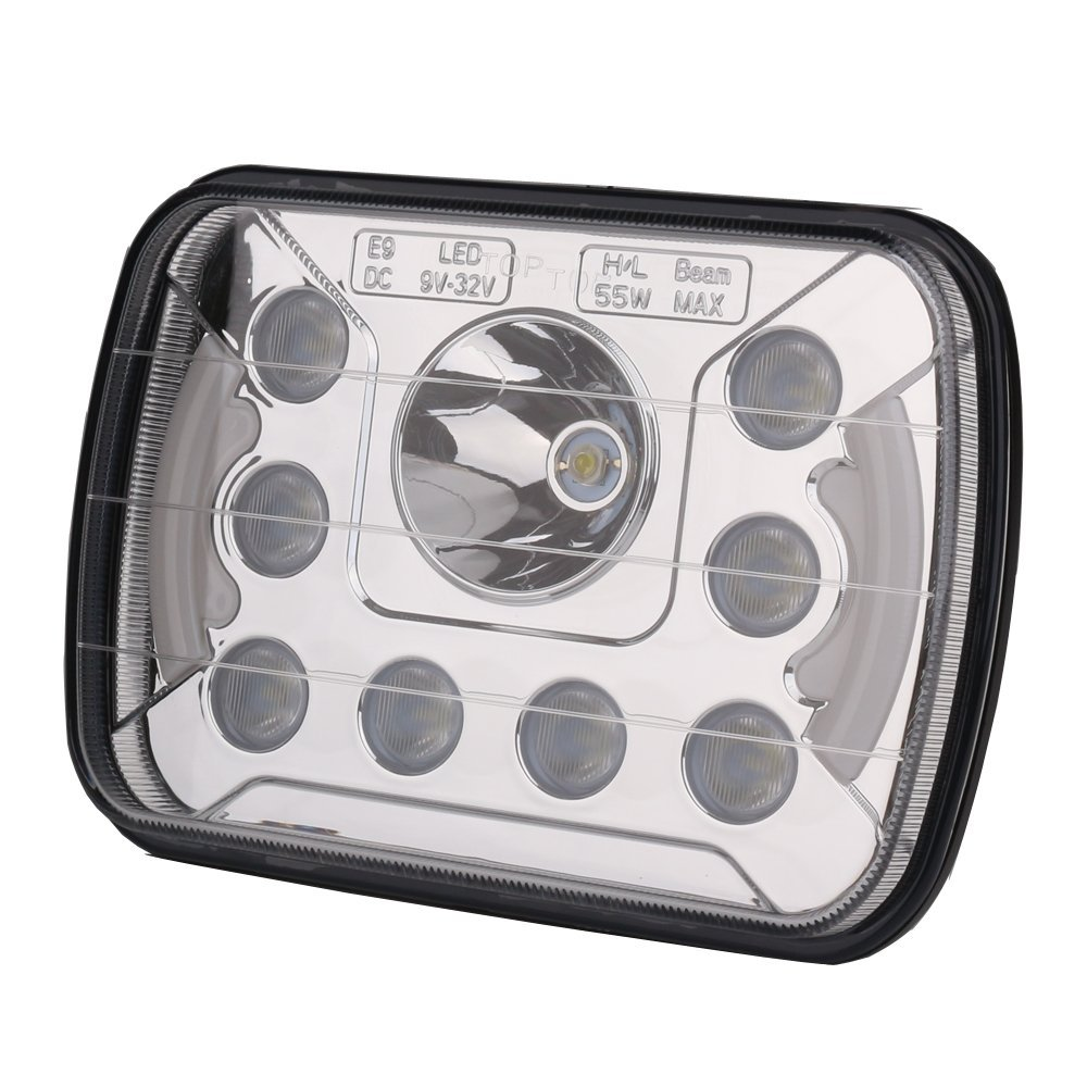 2 stücke 7X6 5X7 55W LED Scheinwerfer Hohe Abblendlicht DRL für Ford E 150 E 250 e 350 Econoline Club Wagon - 4