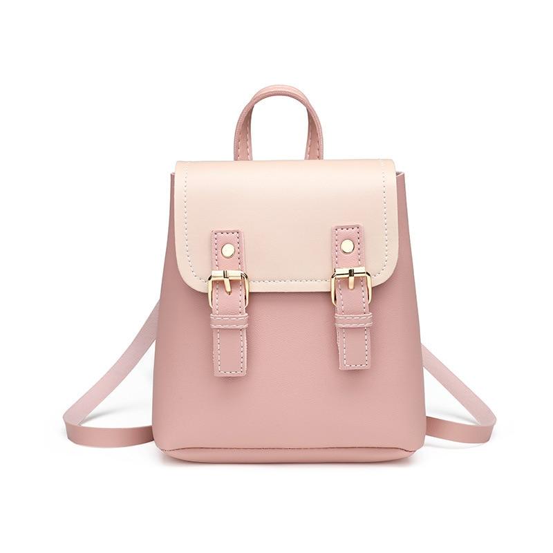 VMiyahouse Trendy Female Drawstring PU Leather Backpacks Teenage Girls Small School Bags Women High Quality Casual Rucksack