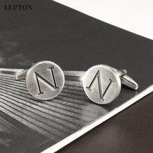 Запонки «Алфавит» для мужчин lepton letters n of an запонки