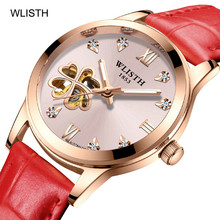 2019 Top Brand Luxury Women Watch Heart-shaped Hollow Automatic Mechanical Luminous Waterproof Fashion Personality Female Model