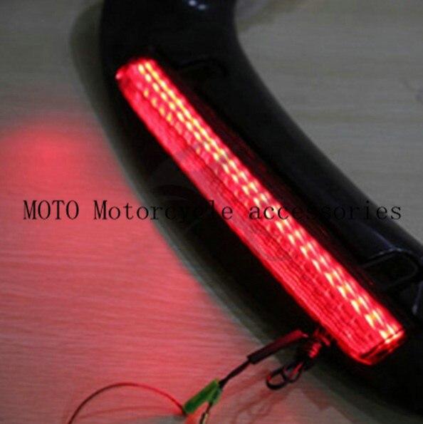 Motorbike Rear Trunk Spoiler with LED Somke Lens For Honda GL1800 GOLDWING 2001-2008 2009 2010 2011 Motorcycle Fender with light