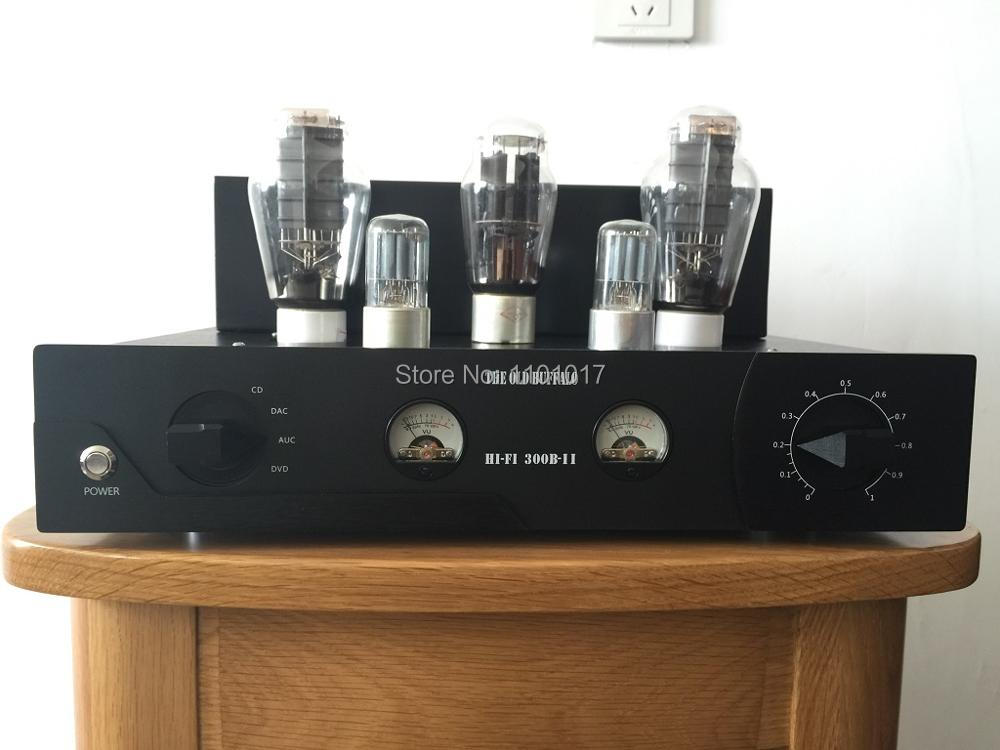 OldBuffalo 300B signal-ended tube amplifier HIFI EXQUIS Black Aluminum chassis 4-way lamp Amp ожерелье topshop 1 27