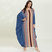 Women's Fashion Comfortable Bat Long Sleeve Luxury Leisure Dress