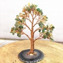 Crystal natural Dongling jade citrine quartz gemMoney Tree Feng Shui Wealth Home Decor Miniature Figurines PartyGift