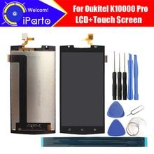 5.5 Oukitel K10000 Pro LCD ekran + dokunmatik ekranlı sayısallaştırıcı grup 100% orijinal test LCD ekran cam Panel K10000 Pro