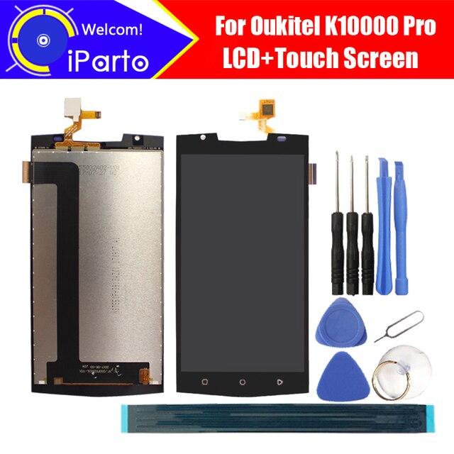 شاشة Oukitel K10000 Pro مقاس 5.5 بوصة + شاشة رقمية تعمل باللمس مجموعة 100% شاشة LCD أصلية مجربة لوحة زجاجية لـ K10000 Pro