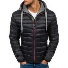 Zogaa 4 цвета плюс размеры S-3XL для мужчин модные осень зима с капюшоном пуховое хлопковое пальто куртка