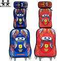 Wenjie hermano EVA COCHES 3 coches mochila niños mochila con ruedas equipaje de la carretilla del equipaje set con mochila para niños