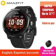 Huami Xiaomi Amazfit 2 Amazfit Stratos 2 Смарт-часы мужские 5ATM водонепроницаемые с gps Xiaomi часы PPG монитор сердечного ритма