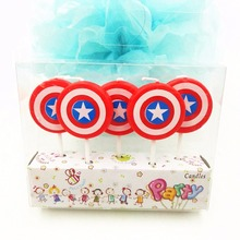 5PC captain america candles the avengers party decorations children birthday superhero candle for cake