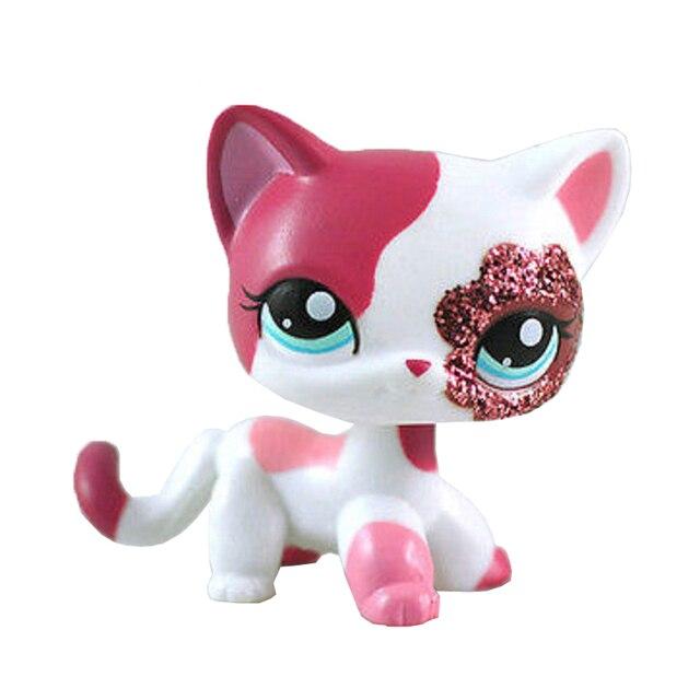 Classique mignon LPS animalerie pvc chat jouet tigre chat poudre chat grand Dan chien modèle action collection jouet cadeau de noël