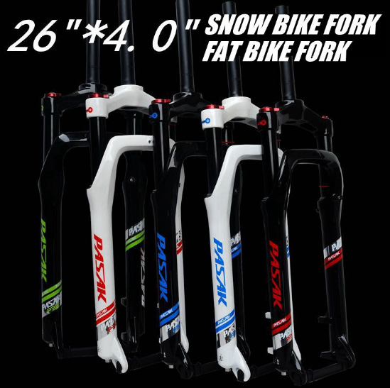 Snow MTB Moutain 26inch Bike Fork Fat bicycle Fork Air Gas Locking Suspension Forks Magnesium Aluminium Alloy For 4.0