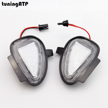 2x Under Mirror LED Puddle Lights for Volkswagen VW Golf 6 GTI Cabriolet Jetta 6 Passat B7 Touran Tiguan 2 x turn signal lights under side mirror puddle 6 led lights for vw gti golf mk6 6 mkvi 2010 2014