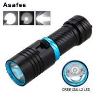 Diving Flashlight XM L2 T6 Magnetic Switch Scuba Diving Torch Underwater Photography Powerful LED Flashlight With 18650