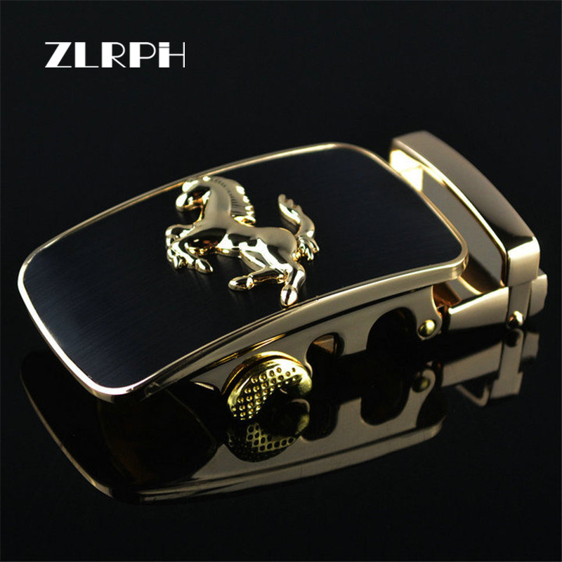 ZLRPH 2018 New Fashion Designer Belts For Men Buckle Ratchet Luxury Men Belt Automatic Wholesale Horse