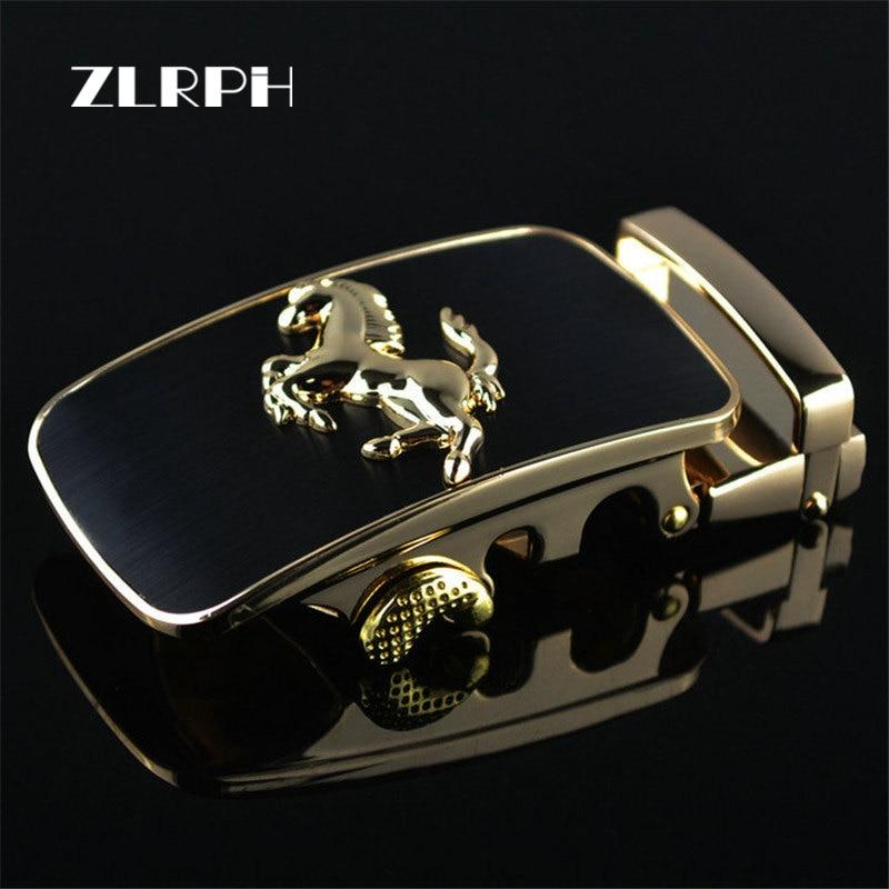 ZLRPH 2018 New Fashion Designer Belts For Men Buckle Ratchet Luxury Men Belt Automatic Wholesale Horse