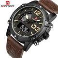 NAVIFORCE мужские s часы лучший бренд класса люкс аналоговые кварцевые часы мужские кожаные Хронограф Спортивные военные часы Relogio Masculino