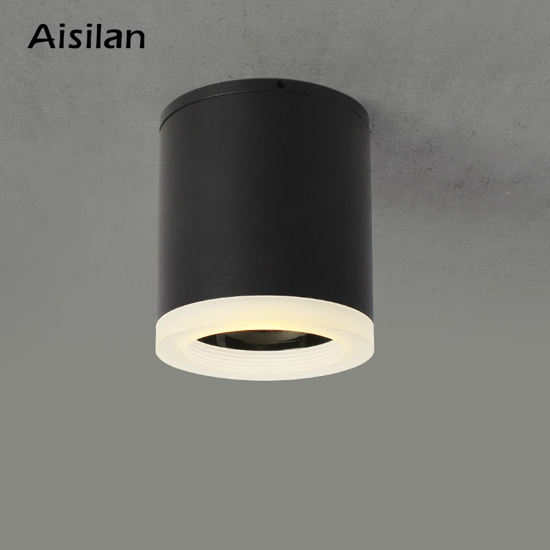 Aisilan Led Surface Mounted Ceiling Downlight for indoor Living room, Bedroom, Kitchen, Bathroom, Corridor Spot light AC90-260VAisilan Led Surface Mounted Ceiling Downlight for indoor Living room, Bedroom, Kitchen, Bathroom, Corridor Spot light AC90-260V