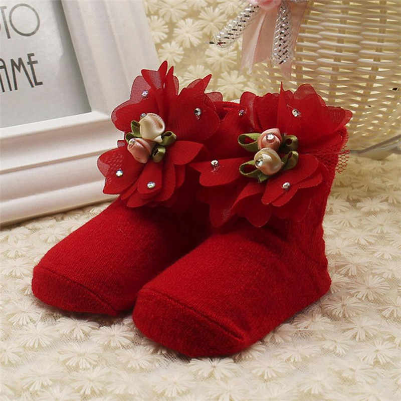 Children Summer Spring Autumn Clothes Baby Kids Girls Comfortable Floral Cute Cotton Warm Ankle Short Socks Hot Selling