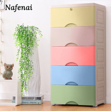 Plastic organizer drawer 5 floors storage box for kitchen large space chest of drawers  for clothes and children's toys