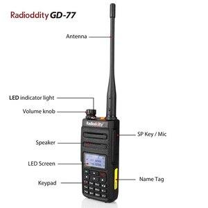 Image 3 - 1 ペア Radioddity GD 77 デュアルバンドデュアル時間スロットデジタル双方向ラジオトランシーバートランシーバー DMR Motrobo 一層 1 一層 2 ケーブル
