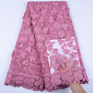 Image 5 - Newest Applique Milk Silk African Lace Fabric High Quality French Lace Fabric Nigerian Tulle Lace Fabric For Wedding Dress A1598