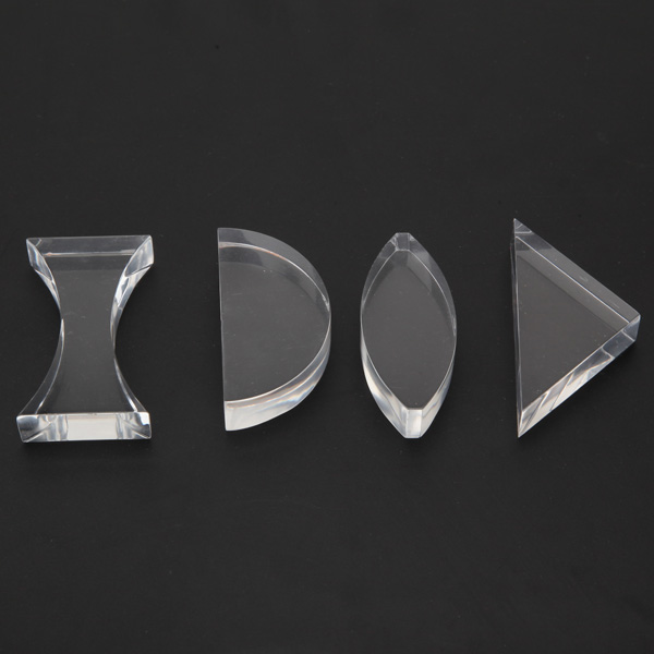 Light Spectrum Optical Glass Prism Set Educational Prism Set Physics Teaching Prism Toys For Children Triangle Semicircle
