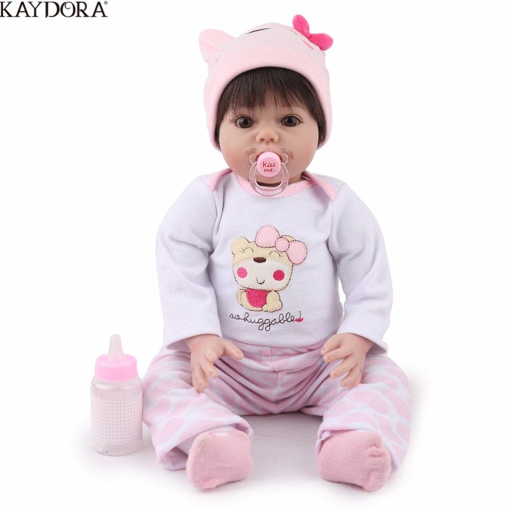 KAYDORA 55 cm 22 cm Silicone Reborn bébé poupée vivante Bebe Reborn doux réaliste fille nouveau-né bébé réaliste noël cadeau d'anniversaire