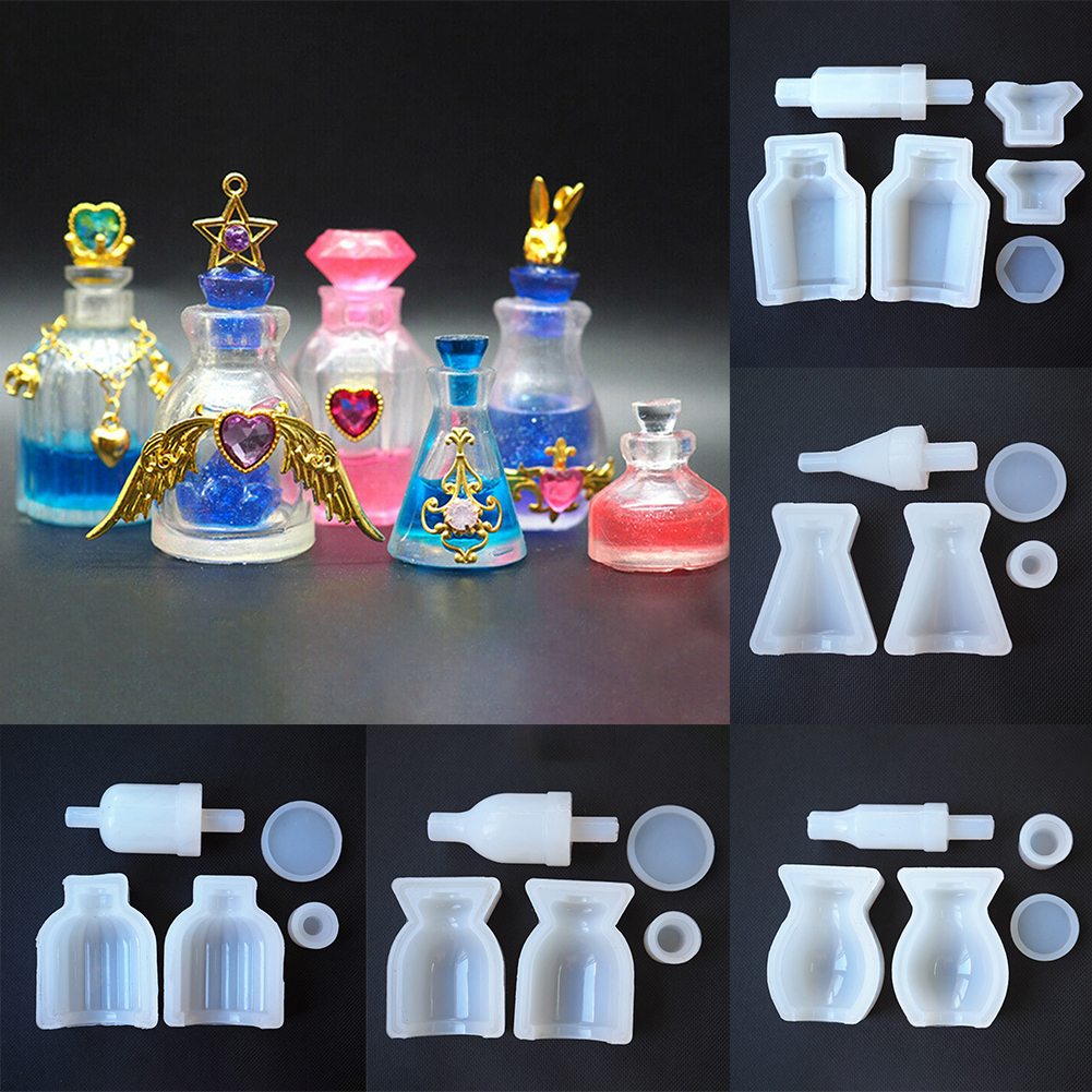 Gifts Handmade Liquid Medicine Decorative Tool DIY Perfume Bottle Resin Craft Mini Accessories Making Hollow Silicone Mold