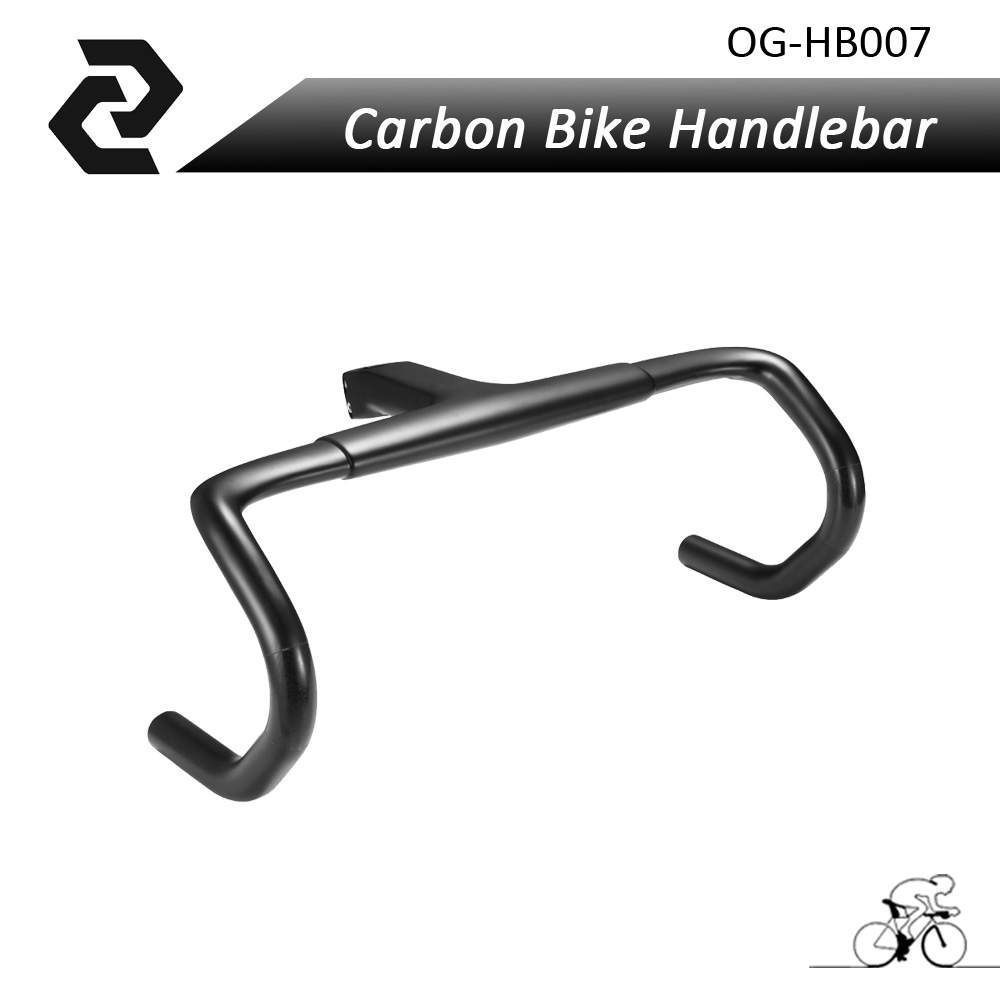 2018 HOT Carbon Bicycle integrated Handlebar Road UD Glossy matte carbon road handle bar 400 420 440mm Bike Bend bar OG-EVKIN bikein lite ud carbon cycling road bike drop bar with stem racing bicycle integrated handlebar 400 420 440mm ultralight 315g