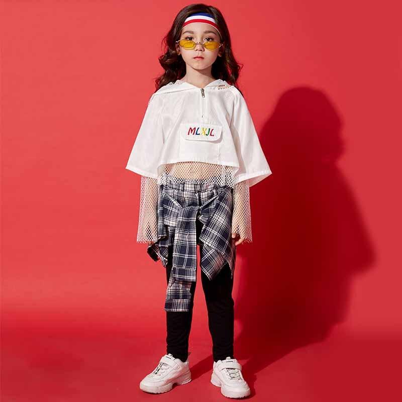 2019 Girls Jazz Dance Costumes Street Dance Set Children Hip Hop Costumes Kids Autumn And Spring Practice Clothing  DQS1180