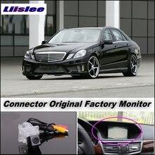 Камеры автомобиля Соединение Заводской Экран/Монитор Для Mercedes MB Benz E Class W212 LiisLee Заднего Вида Резервного Копирования камера