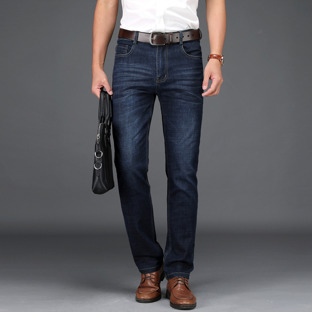 Men's Straight Cut Stretch Trousers 1