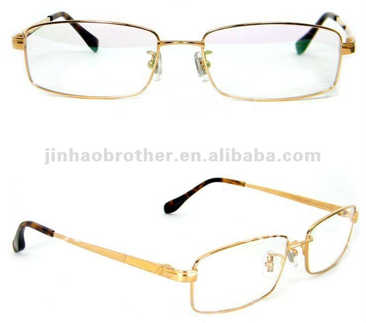 Full frame gold business man custom made eyeglass frames-in Eyewear ...